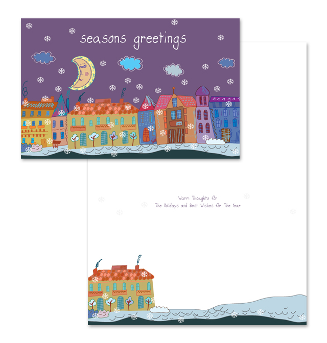 Charity Christmas Greeting Card Template