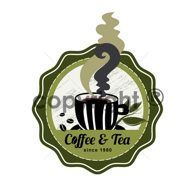 Coffee & Tea Cafe Logo Template