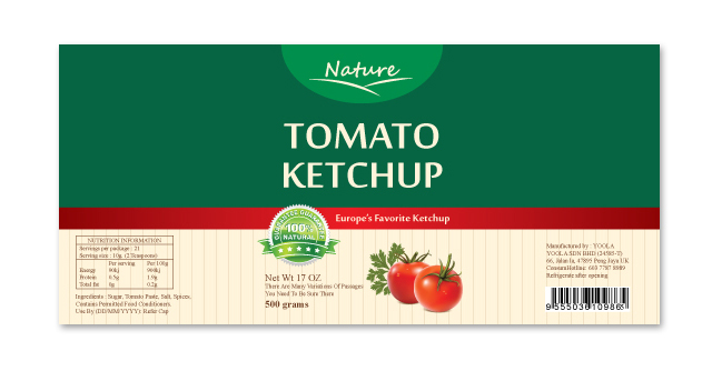 Ketchup Label Template