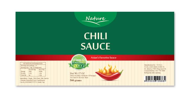 Chili Sauce Label Template