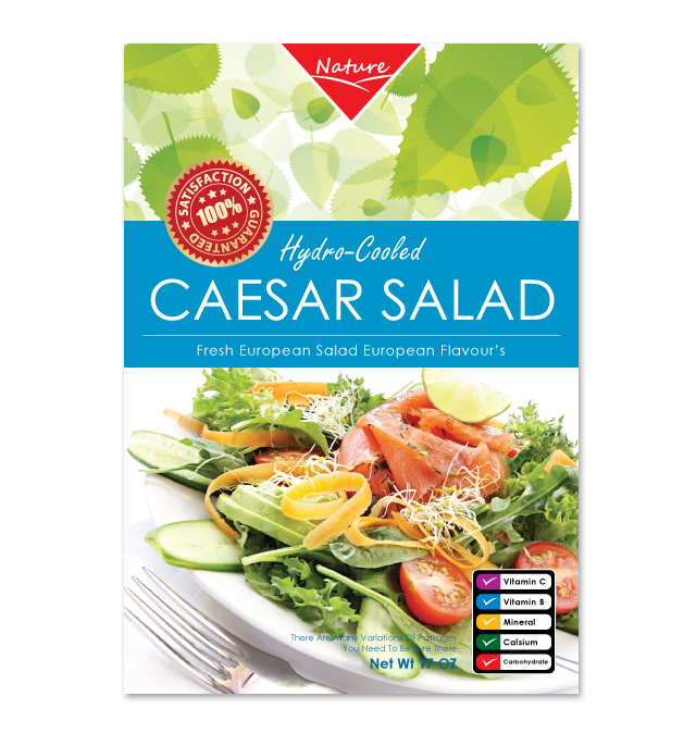 Caesar Salad Label Template