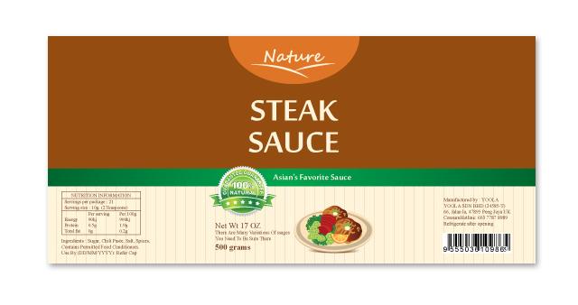 Steak Sauce Label Template