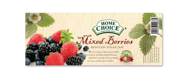 Mixed Berries Label Template