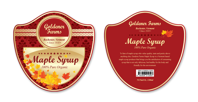 Maple Syrup Label Template