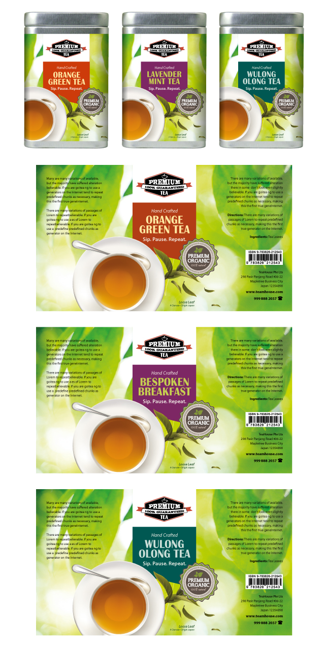 Tea Labels Template