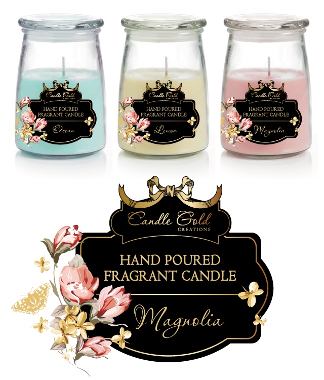 Candle Labels Stickers Template