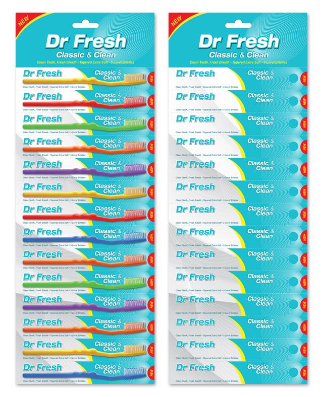 Toothbrush Hanging Card Packaging Template