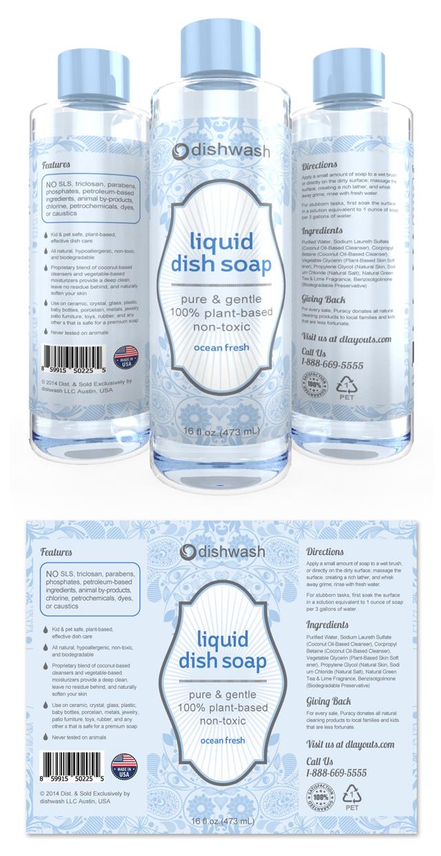 Liquid Dish Soap Label Template