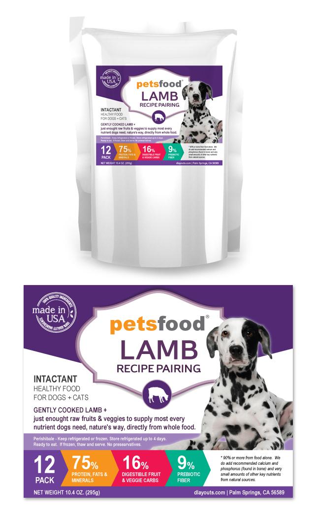 Fresh Lamb Dog Food Label Template