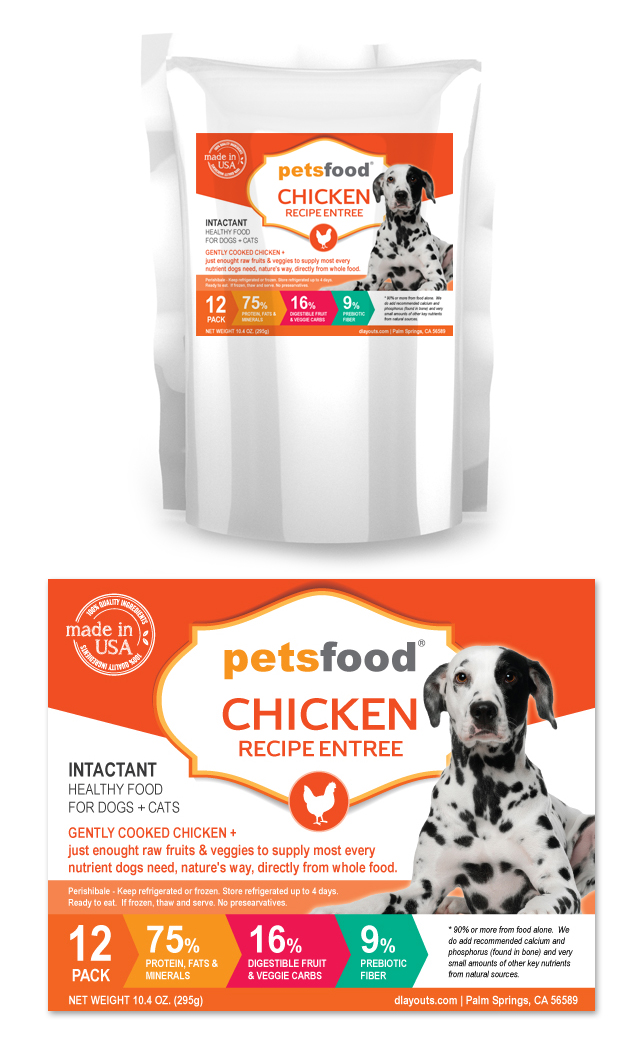 Fresh Chicken Dog Food Label Template