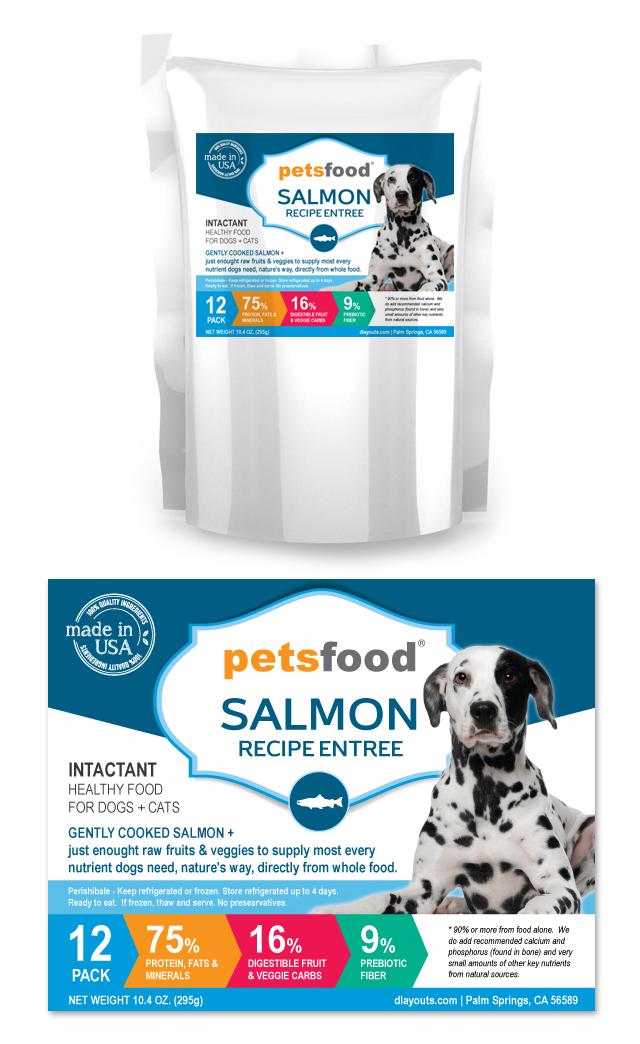 Fresh Salmon Dog Food Label Template