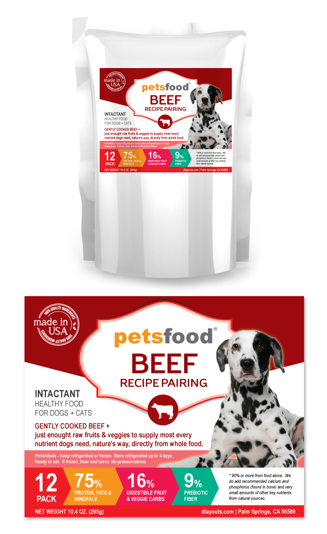 Fresh Beef Dog Food Label Template
