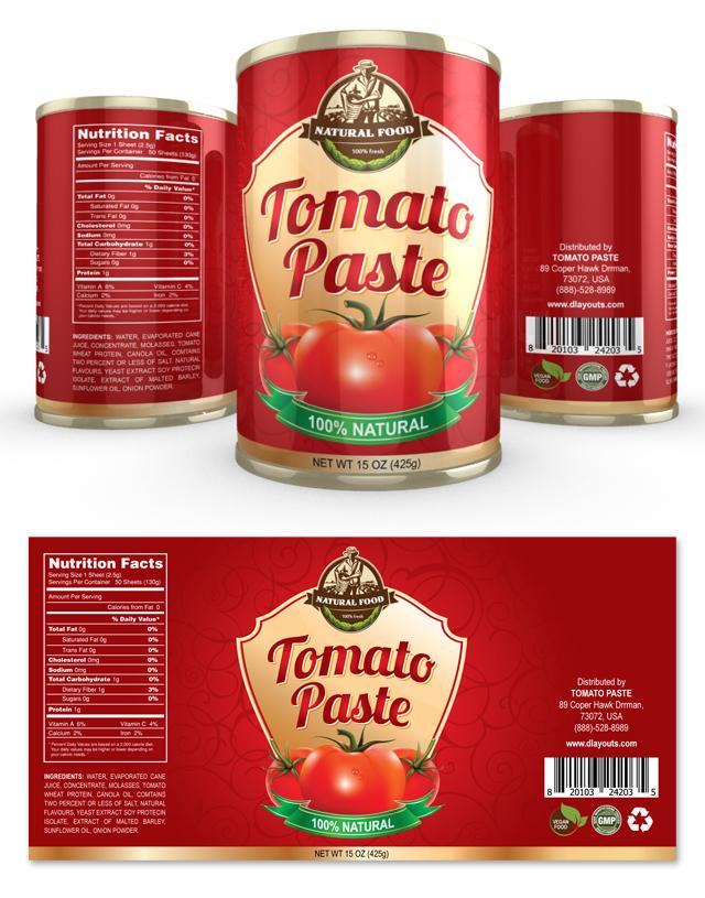 Tomato Paste Label Template