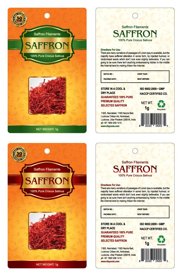 Premium Saffron Label Template
