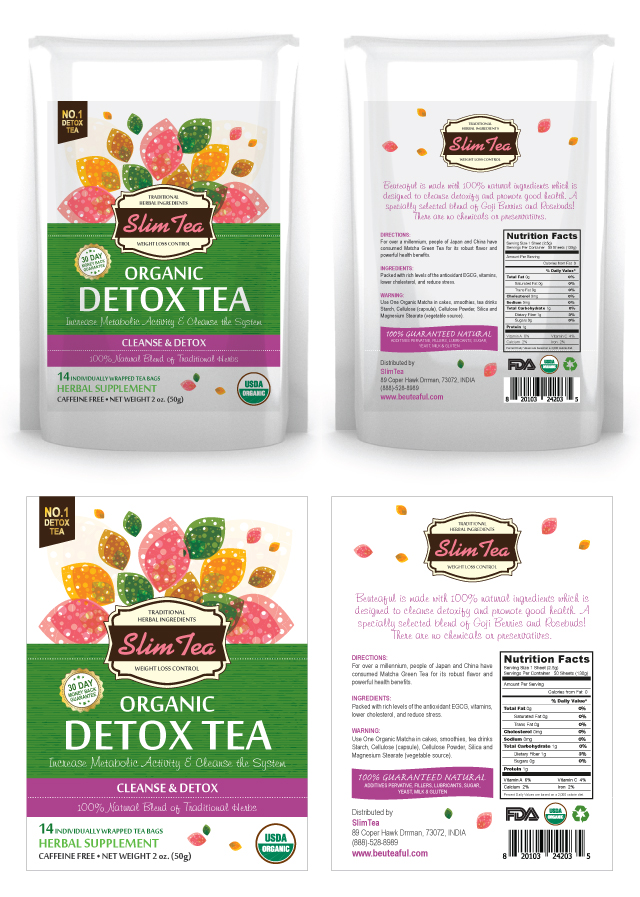Detox Tea Label Template
