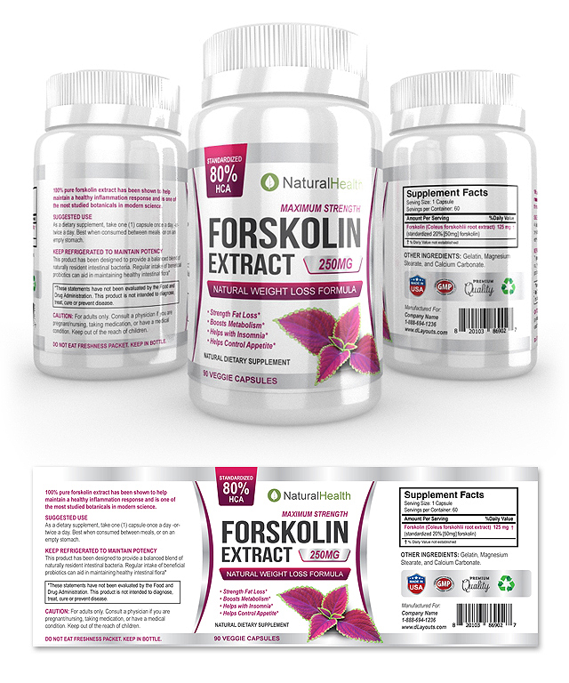 Forskolin Extract Supplement Label Template