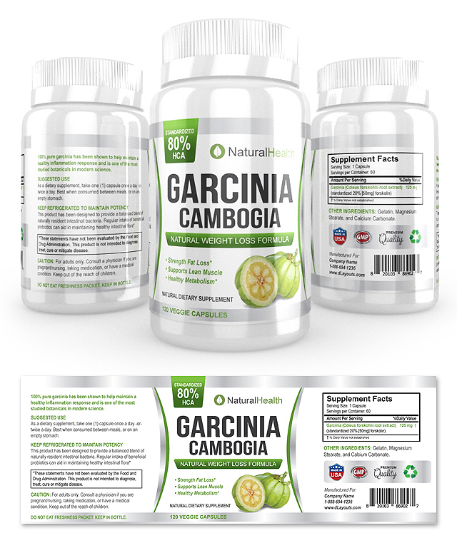 Garcinia Cambogia Extract Supplement Label Template