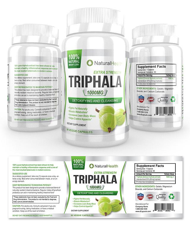 Triphala Supplement Label Template