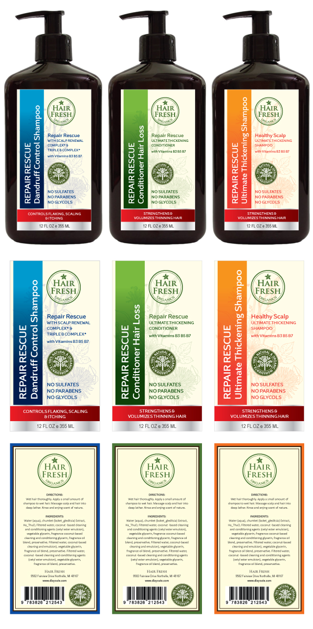 Herbal Hair Shampoo & Conditioner Label Template