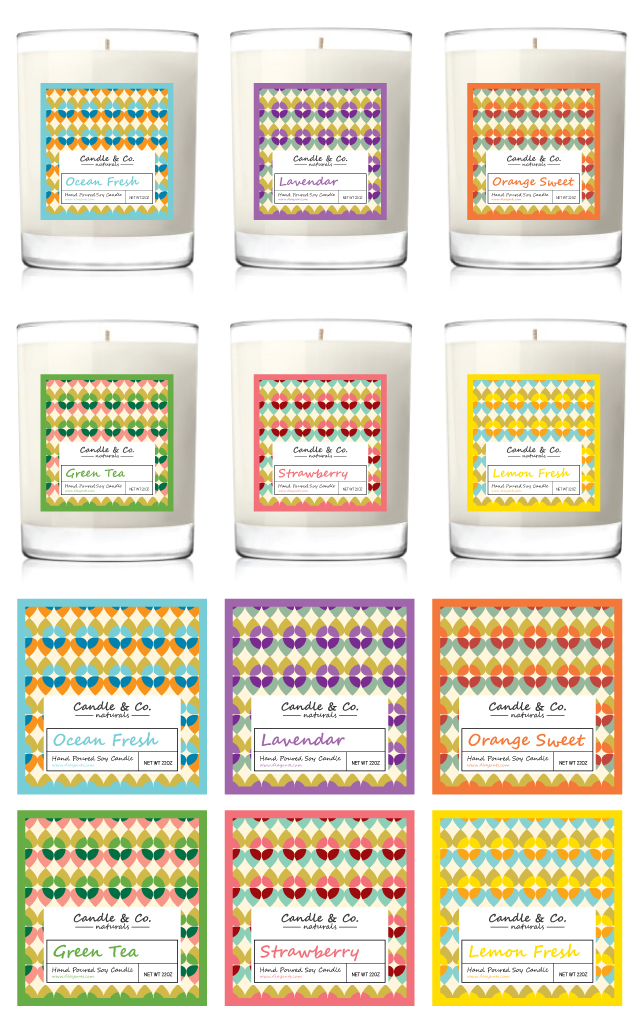 Handmade Soy Candles Label Template