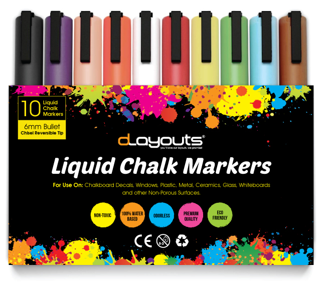 Liquid Chalk Markers Label Template
