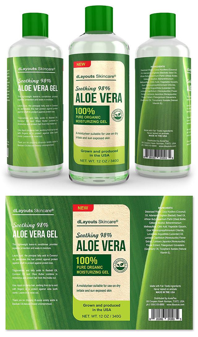 Aloe Vera Gel Label Template
