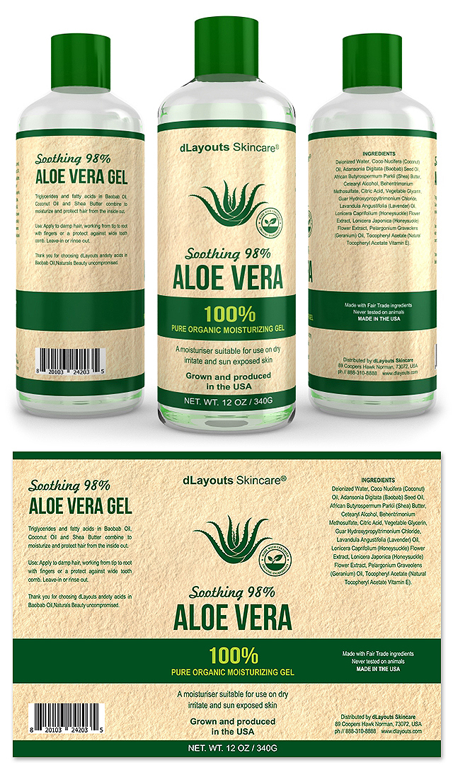 Aloe Vera Gel Label Template