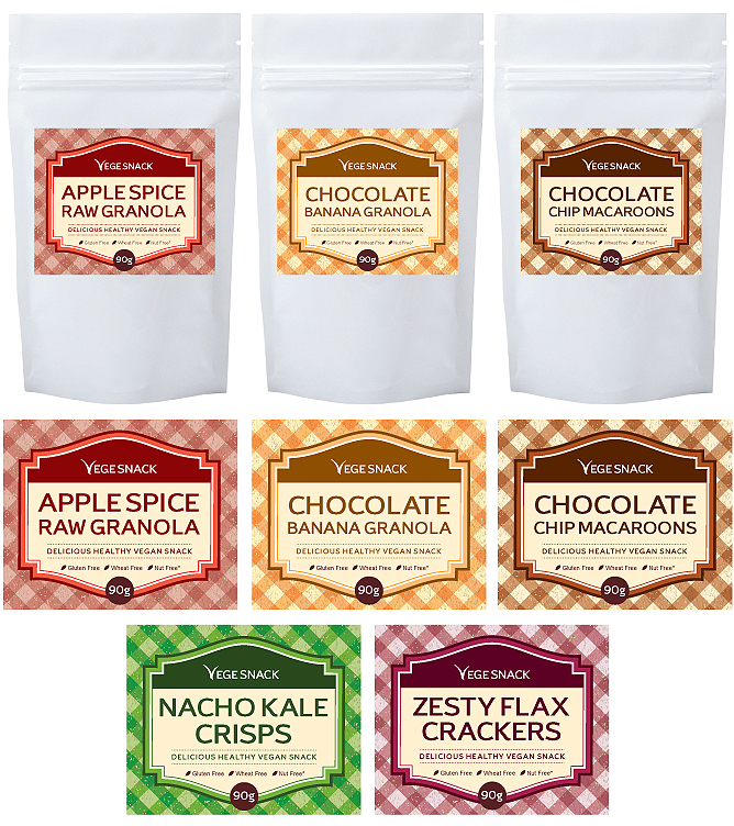 Snack Pack Label Template