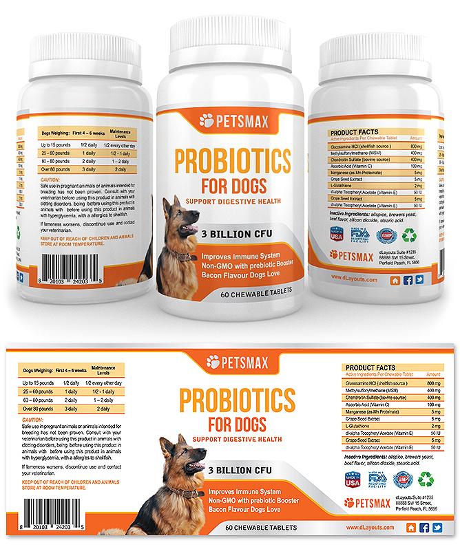 Dog Probiotics Supplement Label Template