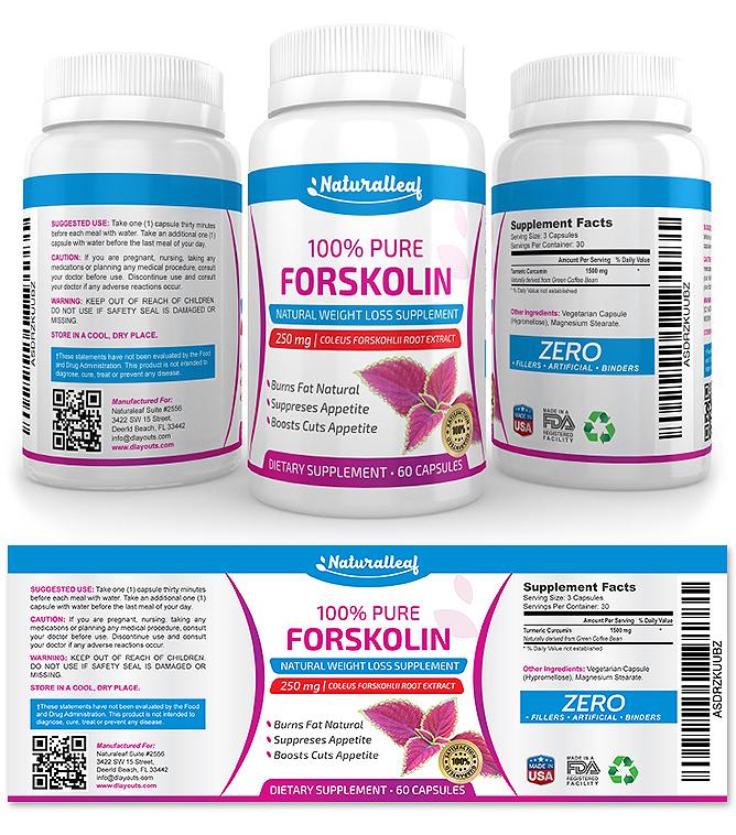 Forskolin Supplement Label Template