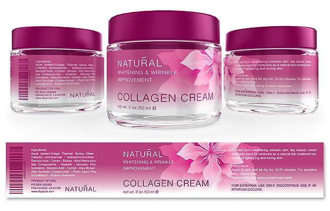 Collagen Facial Cream Label Template