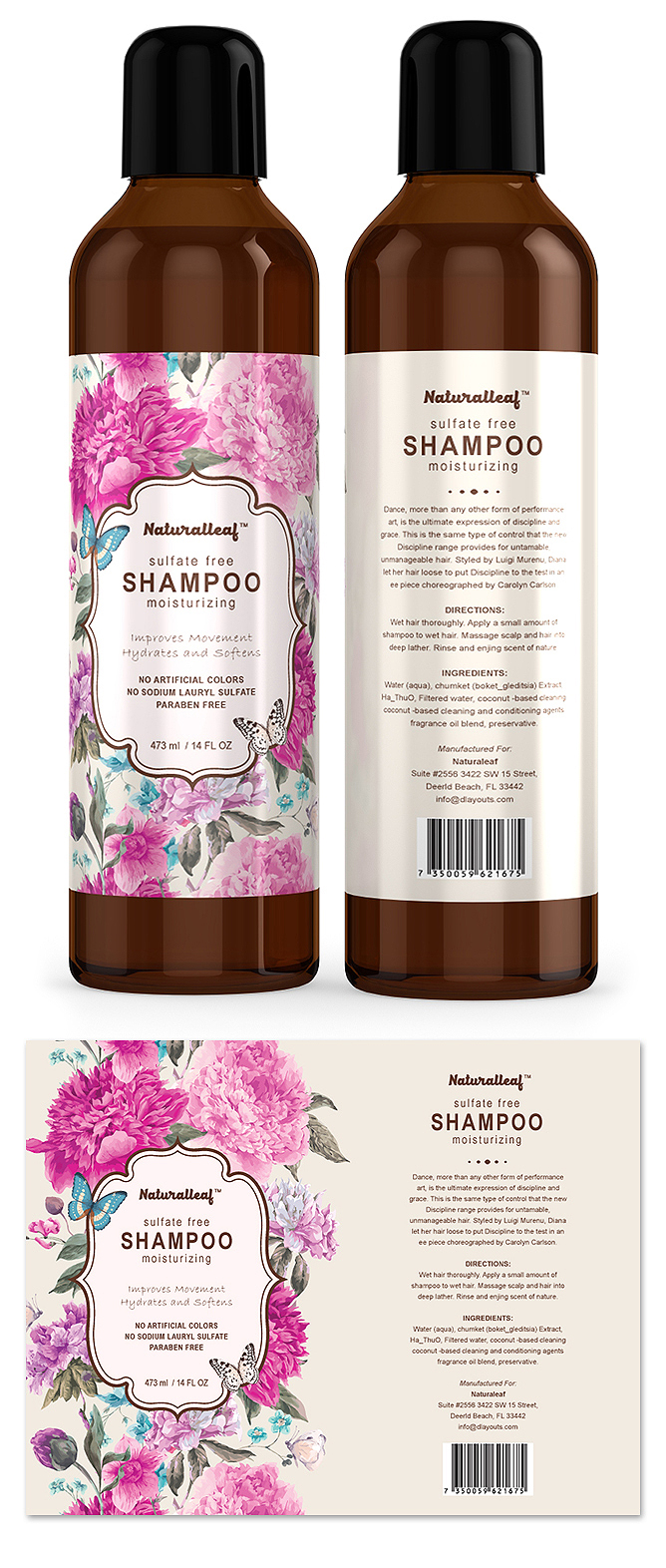 Hair Shampoo Label Template