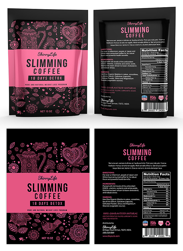 Slimming Coffee Label Template