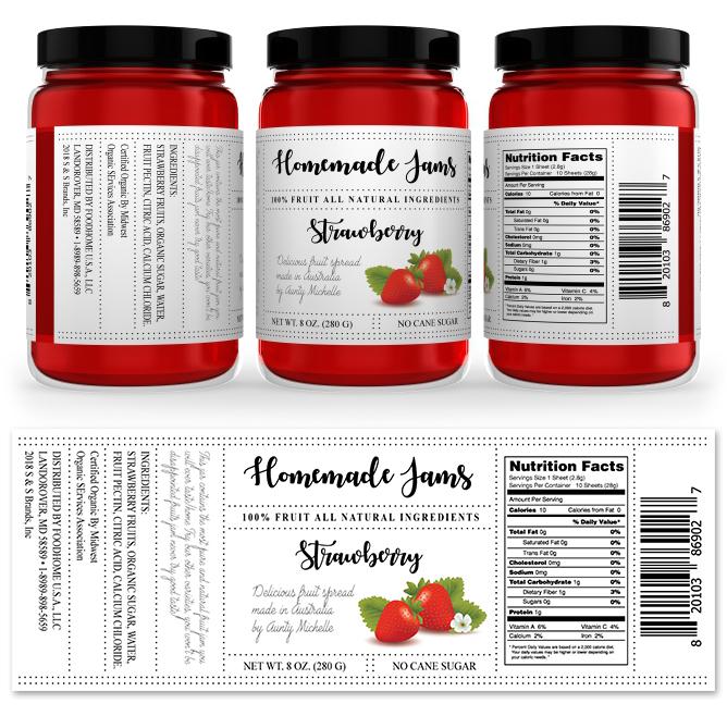 Strawberry Jam Label Template