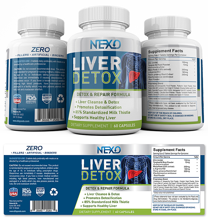 Liver Support Supplement Label Template