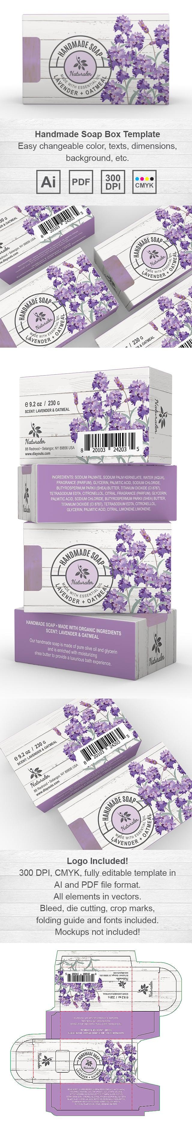 Handmade Lavender Soap Packaging Template