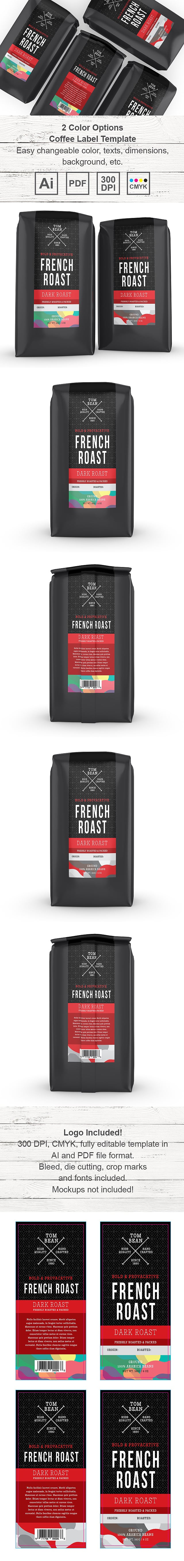 Coffee Label Template