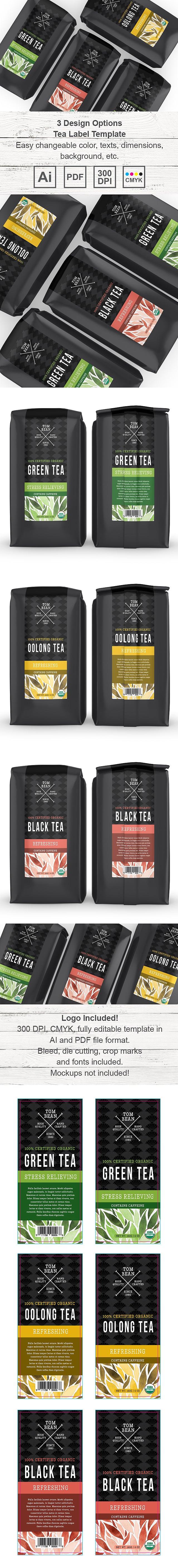 Tea Label Template