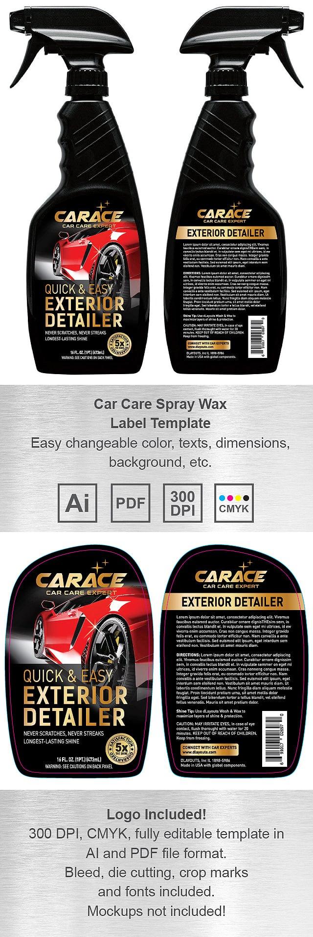 Exterior Detailer Label Template