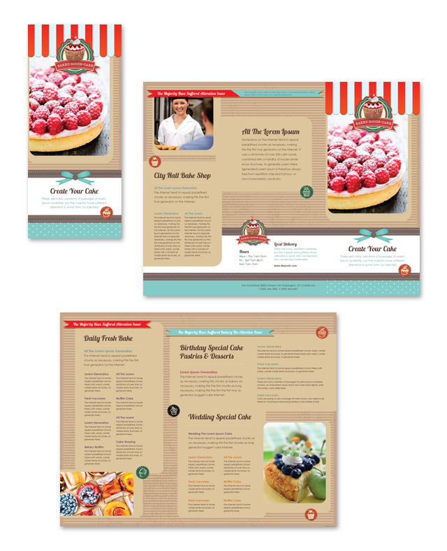 Cakery Menu Template