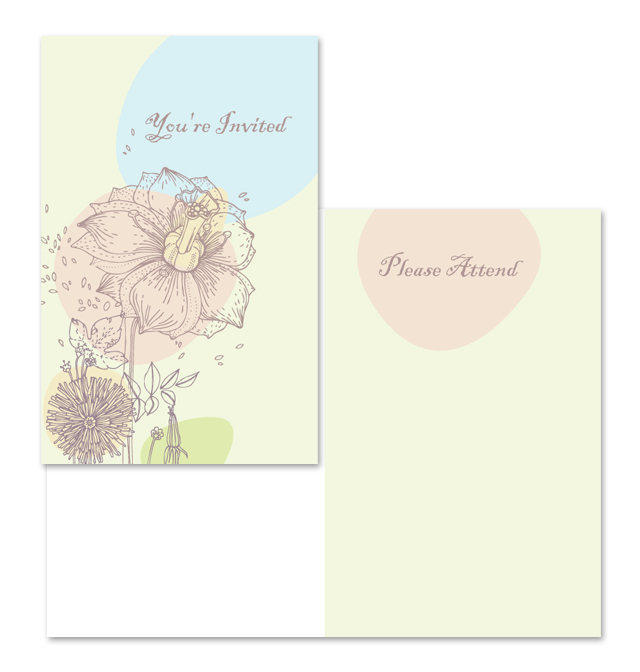 Occasion Invitation Note Card Template