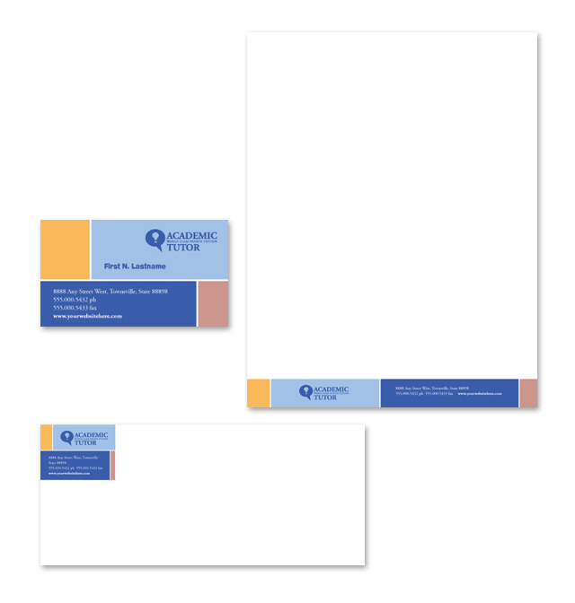 Academic Tutor & School Stationery Kits Template
