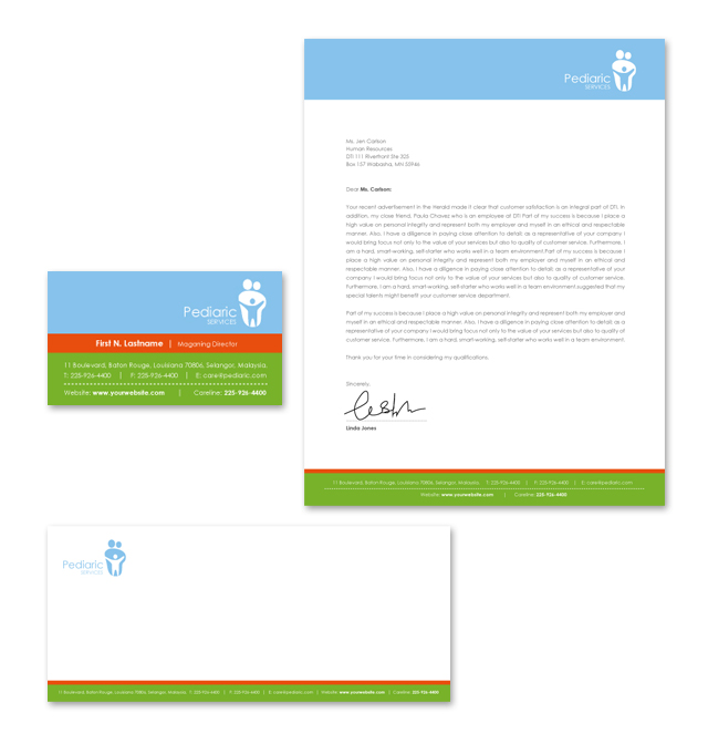 Pediatrician & Child Care Stationery Kits Template