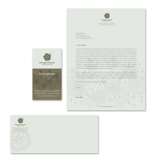 Gift & Florist Shop Stationery Kits Template
