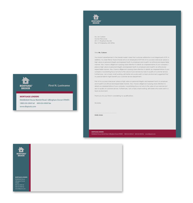 Mortgage Lenders Stationery Kits Template