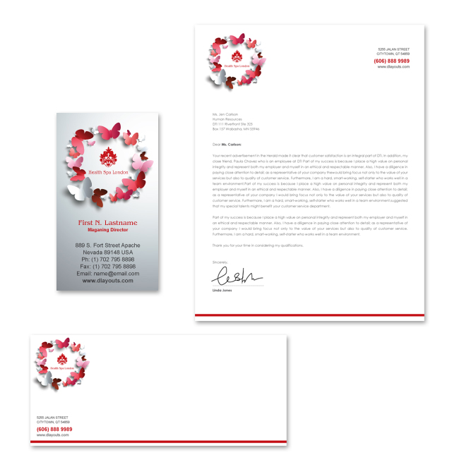Beauty Spa Stationery Kits Template