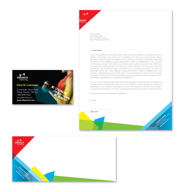 Strength Training Stationery Kits Template