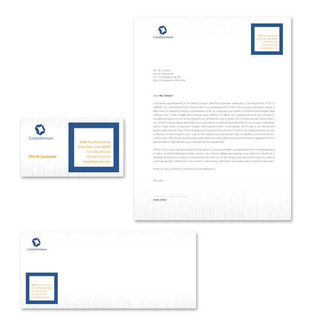 Apartment & Condominium Stationery Kits Template
