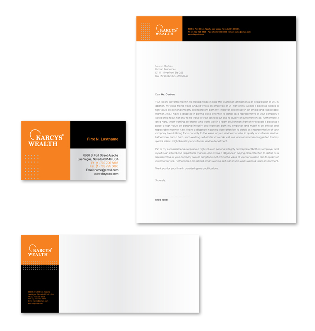 Wealth Management Services Stationery Kits Template
