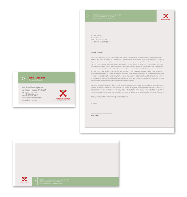 Business Management Stationery Kits Template